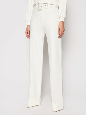 Victoria Victoria Beckham Victoria Victoria Beckham Pantaloni din material Ponti 2121JTR002389A Alb Regular Fit