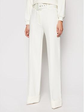 Victoria Victoria Beckham Victoria Victoria Beckham Spodnie materiałowe Ponti 2121JTR002389A Biały Regular Fit