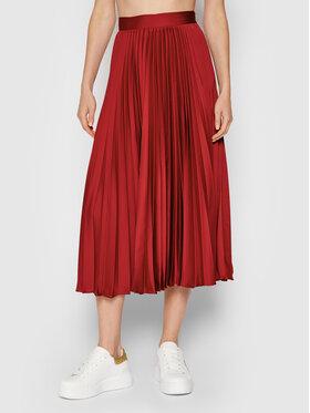 TWINSET TWINSET Plisovaná sukně 212TP2441 Červená Regular Fit