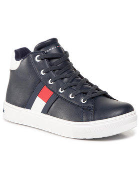 Tommy Hilfiger Tommy Hilfiger Sneakersy High Top Lace Up Sneaker T3B4 30925 1031 S Granatowy