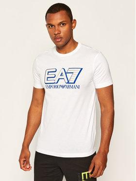 EA7 Emporio Armani EA7 Emporio Armani T-shirt 6HPT16 PJ02Z 1100 Blanc Regular Fit