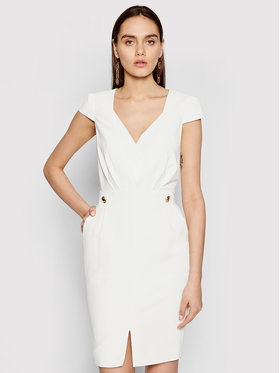 Marciano Guess Marciano Guess Robe de cocktail 1GG742 9529Z Blanc Slim Fit
