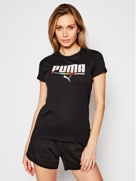 Puma Puma T-shirt Multicoloured 587898 Crna Regular Fit