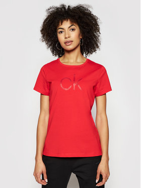 Calvin Klein Calvin Klein Póló Diamante -K20K202639 Piros Slim Fit