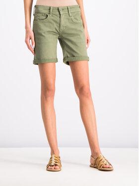 Pepe Jeans Pepe Jeans Džinsiniai šortai PL800802YC8 Žalia Regular Fit