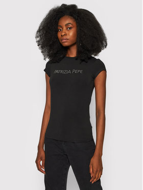 Patrizia Pepe Patrizia Pepe T-Shirt 8M1333/A13-K103 Černá Slim Fit