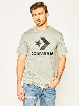 Converse Converse T-Shirt Star Chevron 10018568-A03 Szary Regular Fit