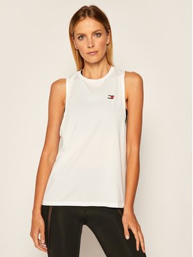Tommy Sport Tommy Sport Top Performance Printed S10S100597 Biały Regular Fit