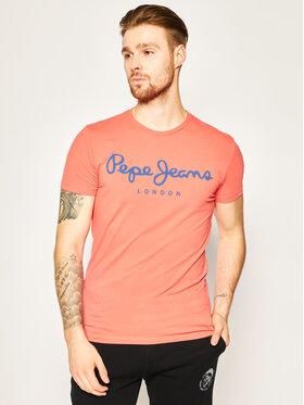 Pepe Jeans Pepe Jeans T-shirt Original Stretch PM501594 Rosso Slim Fit