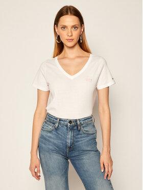 Tommy Jeans Tommy Jeans T-Shirt Tjw Chest Sign Off DW0DW08472 Biały Regular Fit