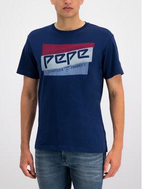 Pepe Jeans Pepe Jeans T-Shirt PM506545 Tmavomodrá Regular Fit