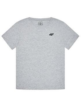 4F 4F Marškinėliai HJL21-JTSM001B Pilka Regular Fit