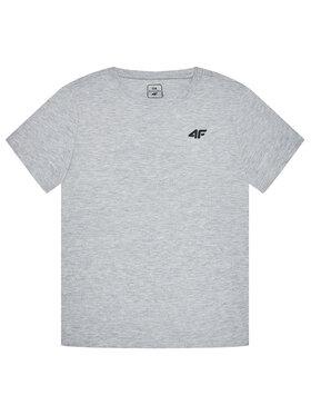 4F 4F T-Shirt HJL21-JTSM001B Szary Regular Fit