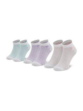 Fila Fila Комплект 3 чифта къси чорапи дамски Calza F6106 Бял