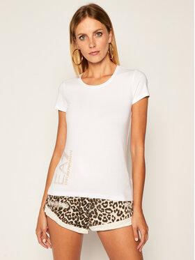 EA7 Emporio Armani EA7 Emporio Armani T-Shirt 6HTT03 TJ2HZ 1100 Bílá Slim Fit