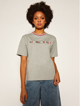 Tommy Hilfiger Tommy Hilfiger T-Shirt Cn Ss Tee Logo UW0UW02265 Γκρι Regular Fit