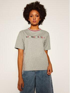 Tommy Hilfiger Tommy Hilfiger T-Shirt Cn Ss Tee Logo UW0UW02265 Szary Regular Fit