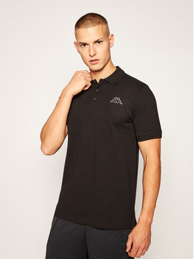Kappa Kappa Тениска с яка и копчета Peleot 303173 Черен Regular Fit