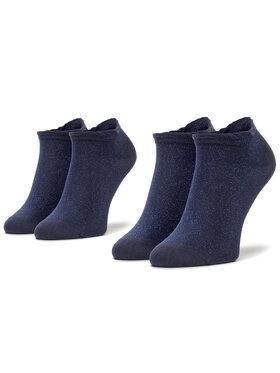 Tommy Hilfiger Tommy Hilfiger Σετ 2 ζευγάρια κοντές κάλτσες γυναικείες 320323001 Σκούρο μπλε