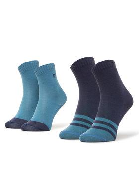 Reima Reima Lot de 2 paires de chaussettes hautes enfant MyDay 527347 Bleu