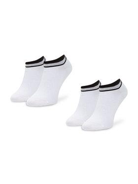 Calvin Klein Calvin Klein Σετ 2 ζευγάρια κοντές κάλτσες γυναικείες 100001900 Λευκό