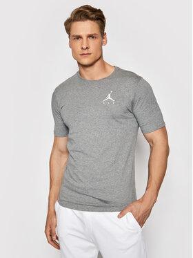 Nike Nike T-Shirt Jordan Jumpman Air Embroidered AH5296 Szary Standard Fit