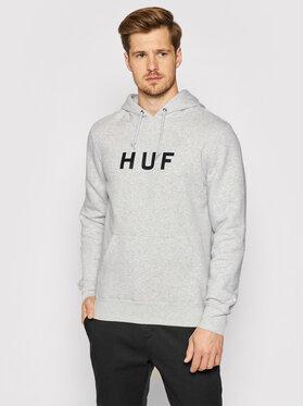 HUF HUF Bluză Essentials Og Logo PF00099 Gri Regular Fit