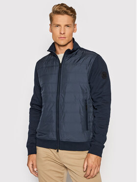 Woolrich Woolrich Bluză Interlock CFWOSW0110MRUT2723 Bleumarin Regular Fit