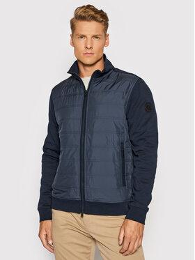 Woolrich Woolrich Majica dugih rukava Interlock CFWOSW0110MRUT2723 Tamnoplava Regular Fit
