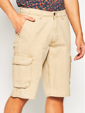 Wrangler Wrangler Pantalon scurți din material Cargo W15DKC58N Maro Regular Fit