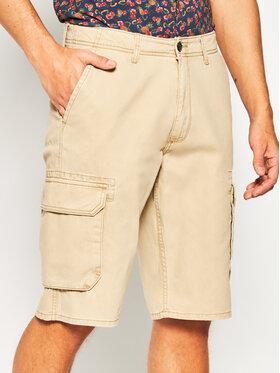 Wrangler Wrangler Pantaloncini di tessuto Cargo W15DKC58N Marrone Regular Fit