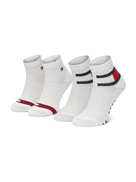 Tommy Hilfiger Tommy Hilfiger Sada 2 párů dětských vysokých ponožek 100002319 Bílá