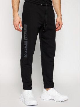 Armani Exchange Armani Exchange Teplákové kalhoty 3KZPAJ ZJ7RZ 1200 Černá Regular Fit