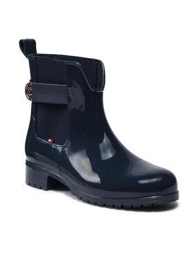 Tommy Hilfiger Tommy Hilfiger Kotníková obuv s elastickým prvkem Th Hardware Rainboot FW0FW05968 Tmavomodrá