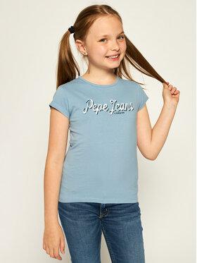Pepe Jeans Pepe Jeans Póló Clemence PG502379 Kék Regular Fit