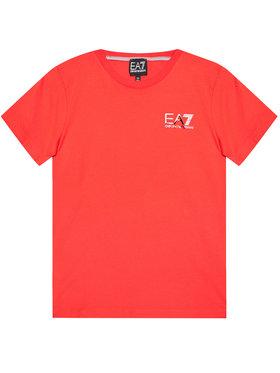EA7 Emporio Armani EA7 Emporio Armani Marškinėliai 3KBT51 BJ02Z 1485 Raudona Regular Fit