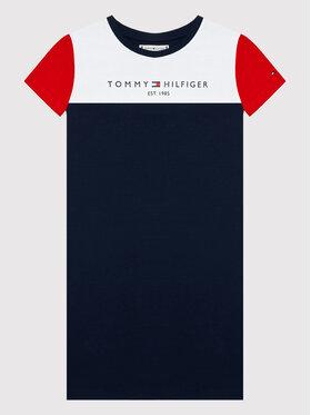 Tommy Hilfiger Tommy Hilfiger Sukienka codzienna Colourblock KG0KG06036 M Granatowy Regular Fit