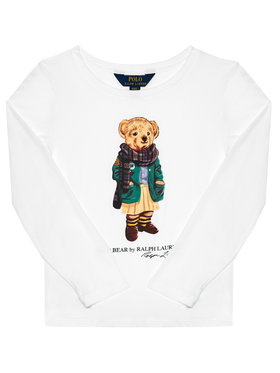 Polo Ralph Lauren Polo Ralph Lauren Bluză Bear Tee 311809578001 Alb Regular Fit