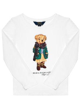 Polo Ralph Lauren Polo Ralph Lauren Блуза Bear Tee 311809578001 Бял Regular Fit