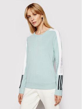 adidas adidas Bluză W Cb Lin Swt GL1443 Verde Regular Fit