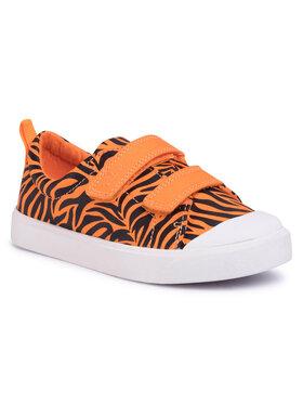 Clarks Clarks Sneakers aus Stoff City Bright T 261490997 Orange