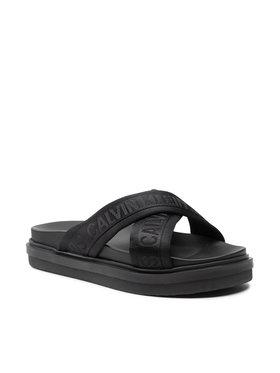 Calvin Klein Jeans Calvin Klein Jeans Klapki Flat Sandal Crisscross Pes YM0YM00069 Czarny