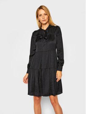 Trussardi Trussardi Košilové šaty Satin 56D00463 Černá Regular Fit