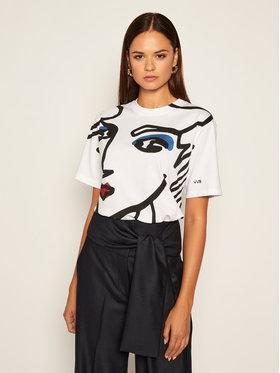 Victoria Victoria Beckham Victoria Victoria Beckham T-Shirt Single 2320JTS001708A Bílá Regular Fit