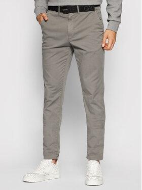 Calvin Klein Calvin Klein Chinosy Garment Dye K10K107785 Szary Slim Fit