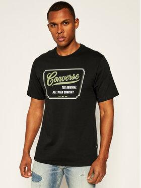 Converse Converse T-Shirt 10018853-A01 Černá Regular Fit