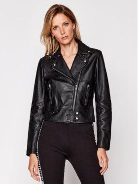 Pinko Pinko Kožená bunda Sensible 20202 BLK01 1G151Q Y672 Čierna Regular Fit