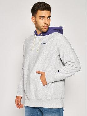 Champion Champion Bluza Contrast Hood Reverse Weave Hoodie 215164 Szary Regular Fit