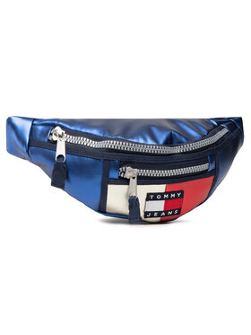 Tommy Jeans Tommy Jeans Чанта за кръст Tjw Heritage Bumbag Metalic AW0AW09740 Тъмносин