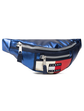 Tommy Jeans Tommy Jeans Ledvinka Tjw Heritage Bumbag Metalic AW0AW09740 Tmavomodrá